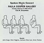 s.e.m. ensemble - spoken music concert at paula cooper gallery