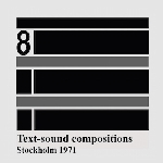 v/a - text-sound compositions 8 (stockholm 1971)