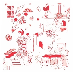 noyades - tomaga - jozef van wissem - la jungle - at studio davout (split - transparent red vinyl)