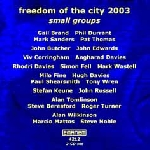 freedom of the city 2003 - small groups
